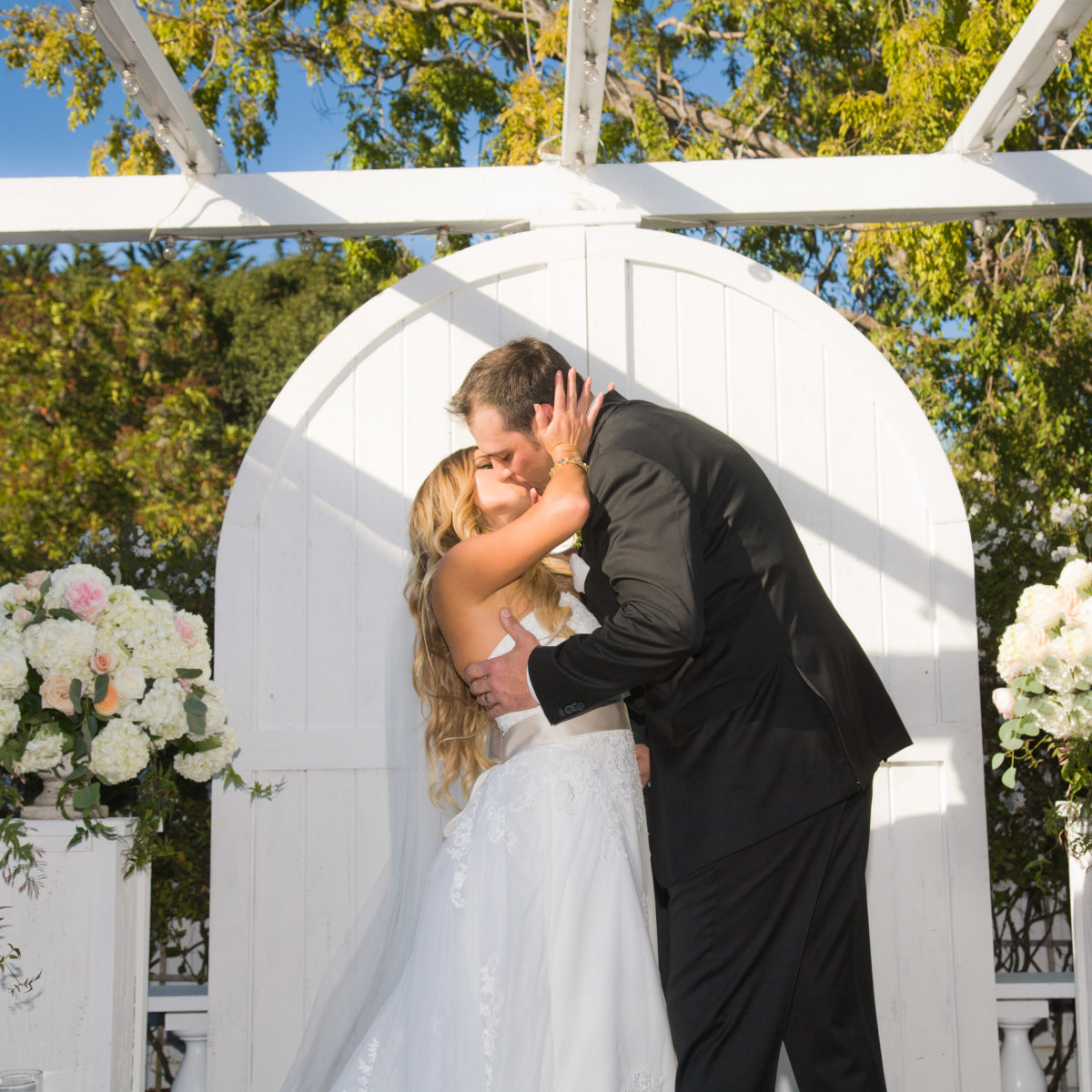 Garden Ceremony at The Perry House Monterey Wedding Venue