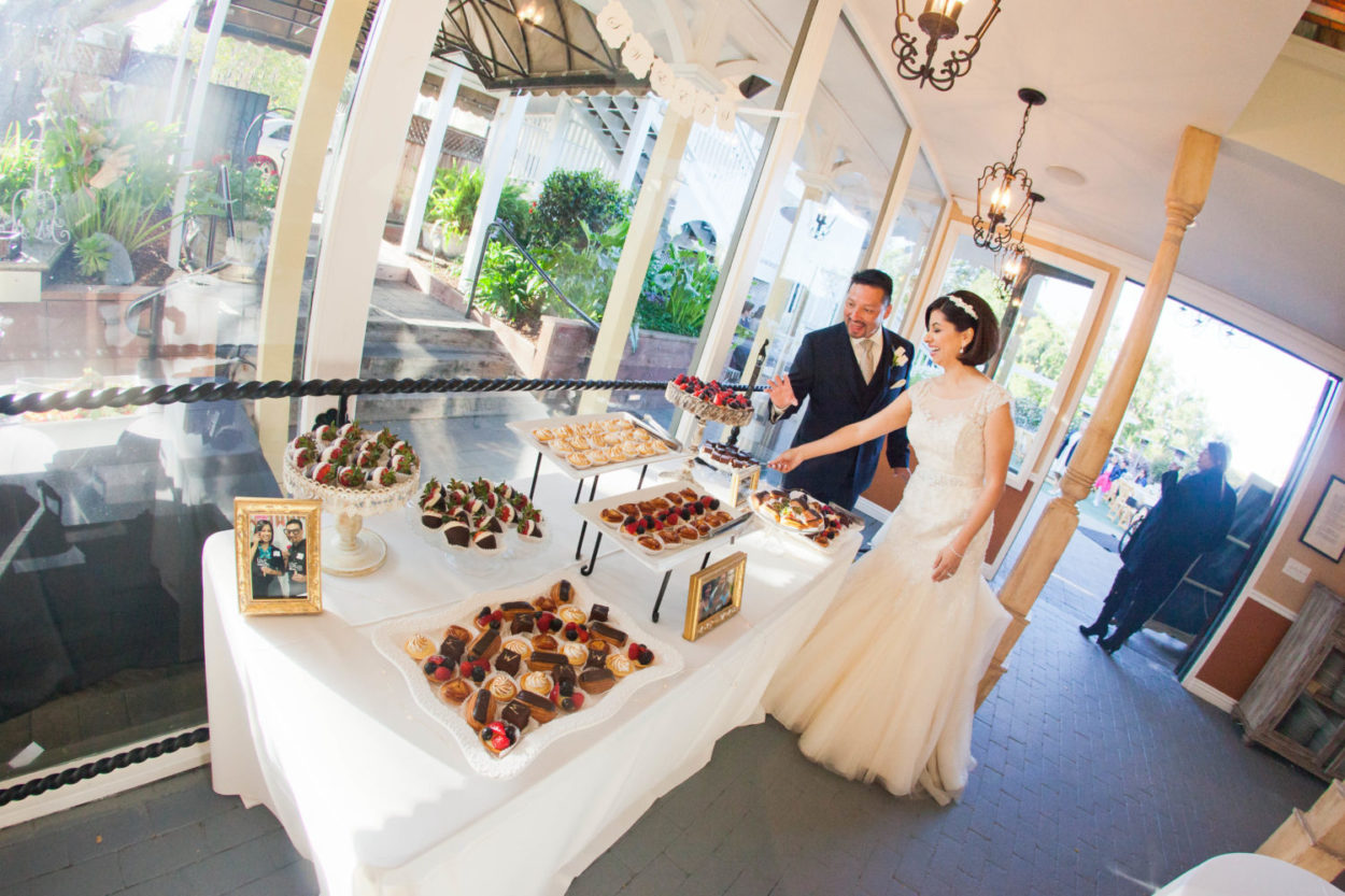 Dessert Table at The Perry House Monterey Wedding Venue