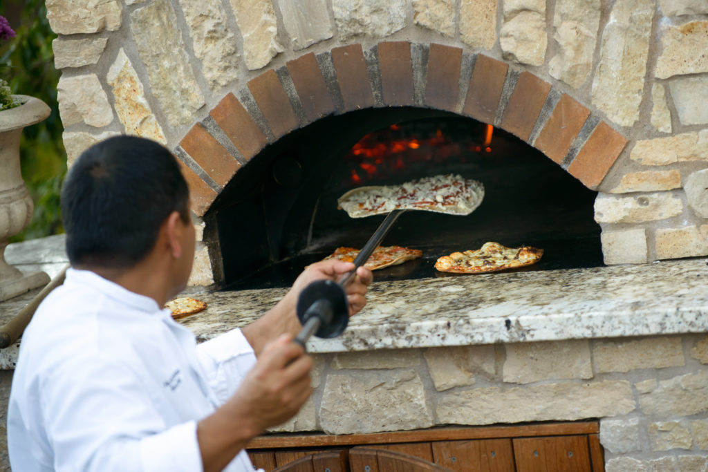 Pizza Oven at Perry House Corporate Event Center