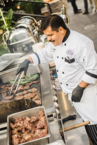 Classic Catering Chef at Grilling Station at The Perry House Monterey venue