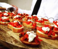 Bruschetta with Goat Cheese and Balsamic Syrup