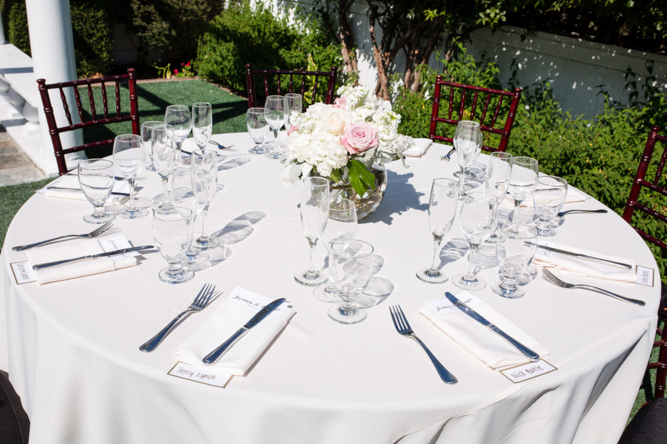Table Set-up at Perry House Monterey Event Venue