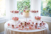 Dessert Table in Bay Window at Perry House Monterey Wedding Venue