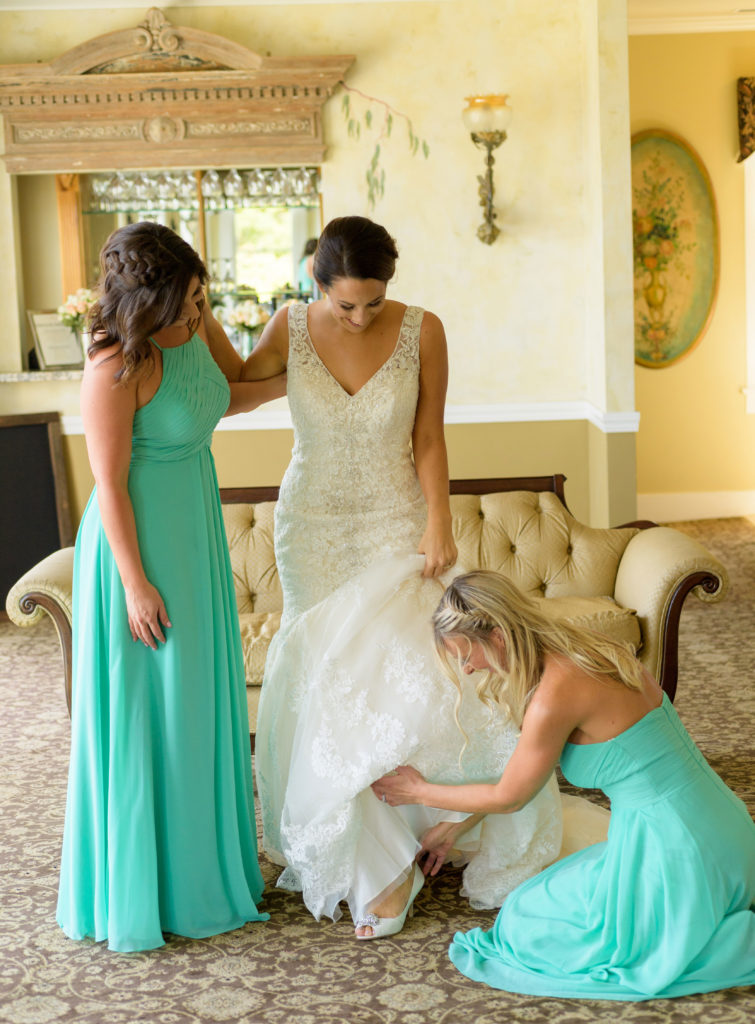 Getting-Ready-in-Bride's-Room---The-Perry-House-Wedding-Venue