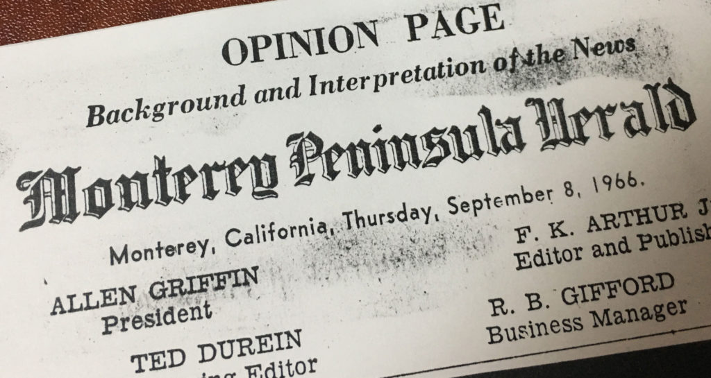 Perry House News 1966