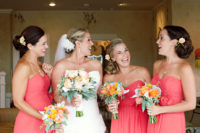Bridal Party Girls at Perry House Wedding Venue in Monterey