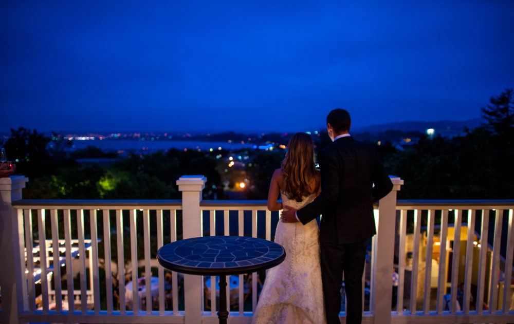 Perry House Wedding Venue View at Night