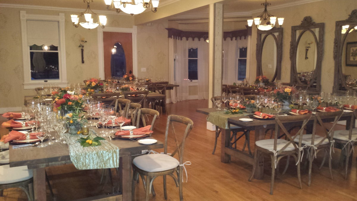 Corporate Table Set-up at The Perry House Monterey Venue