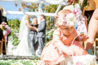Flower Girl at Perry House Monterey Wedding Ceremony