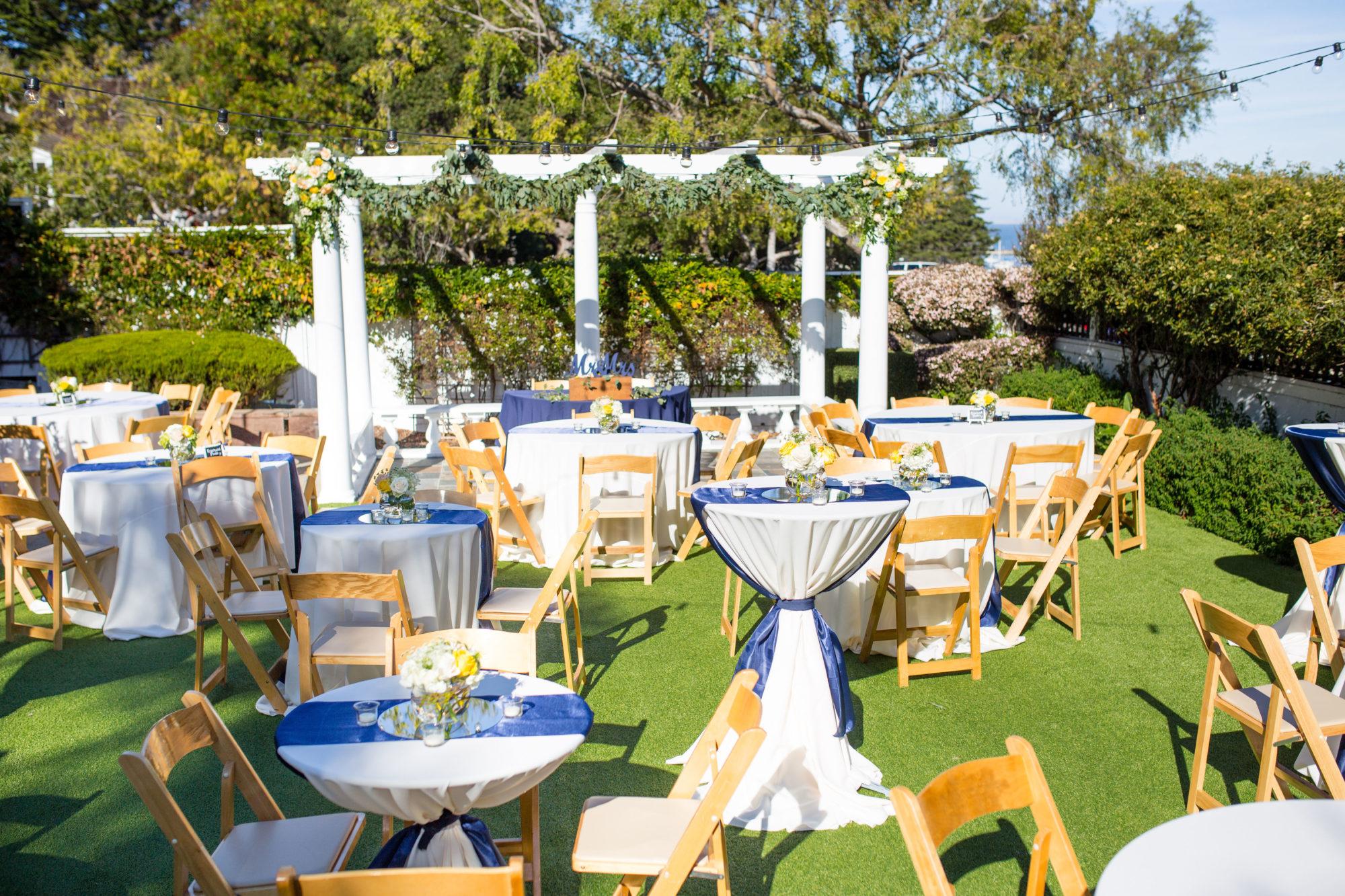 Garden Reception looking Toward Sweetheart Table
