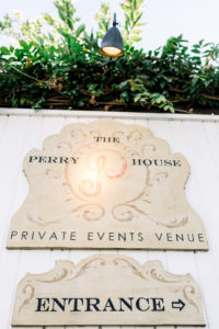 Perry House Signage at Side Entrance