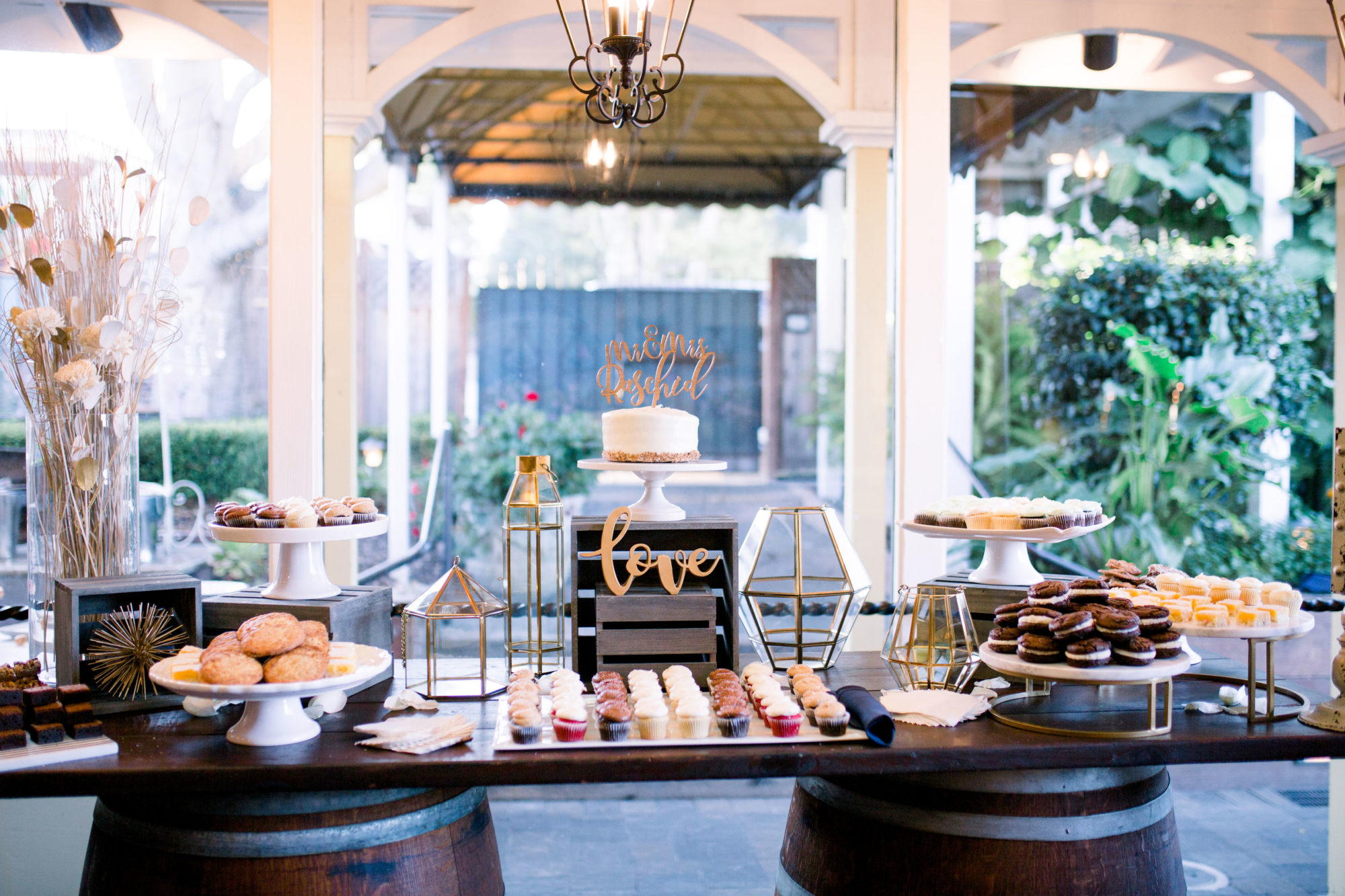 Dessert Table Set-up in Carriage House