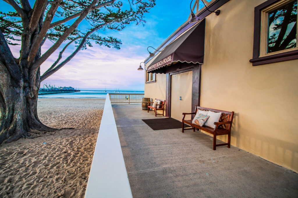 Entrance of Monterey Beach House
