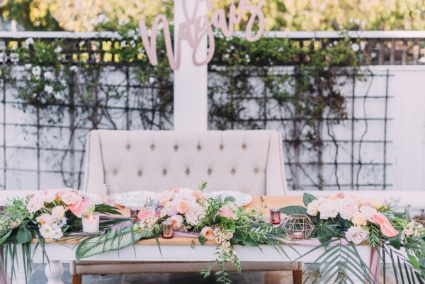 Sweetheart Table Perry House Monterey Wedding Venue