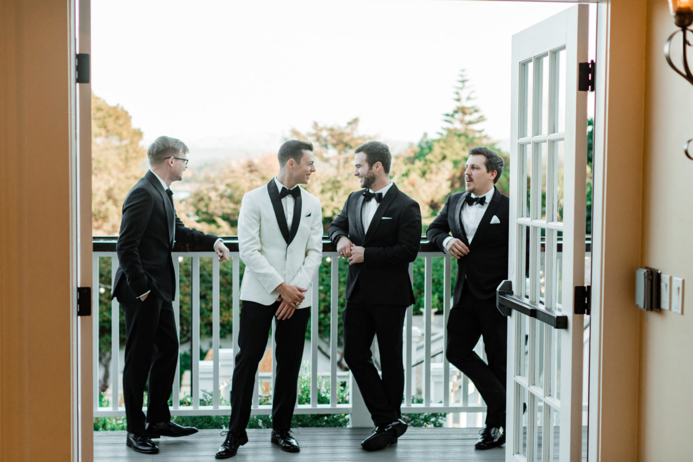 Groomsmen at Perry House