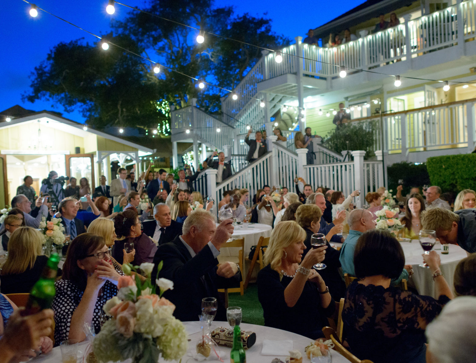 Garden Wedding Reception area at The Perry House