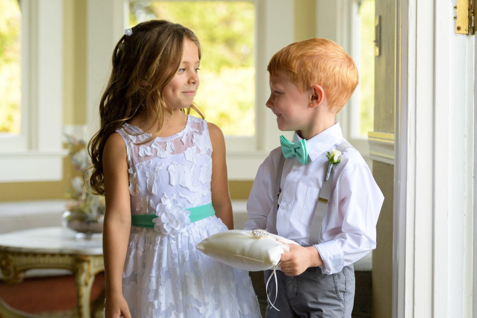 Ring Bearer & Flower Girl The Perry House Wedding Venue Monterey