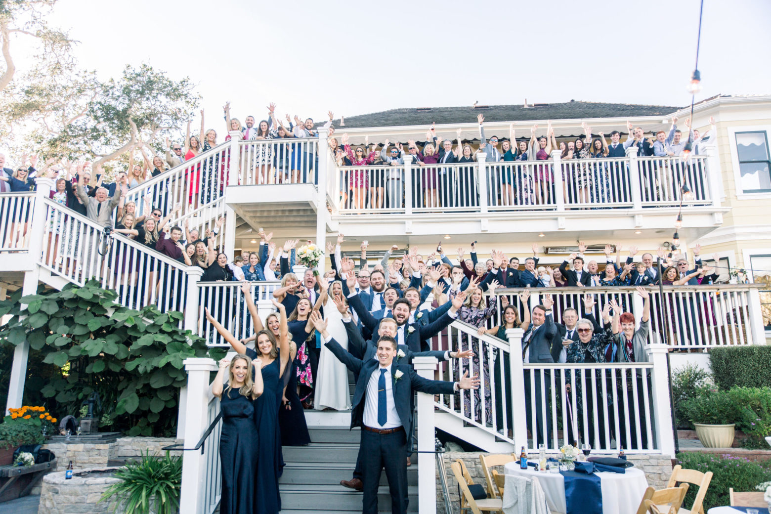 Group Wedding Photo at Perry House